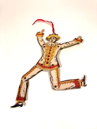 Articulated PIERROT, CLOWN Die-Cut Hanging Decoration, Puppet || Halloween, Party, Decor