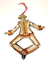 Load image into Gallery viewer, Articulated PIERROT, CLOWN Die-Cut Hanging Decoration, Puppet || Halloween, Party, Decor