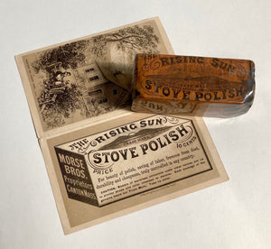 RISING SUN Stove Polish Package with Original Product || Morse Bros.