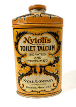 Load image into Gallery viewer, Antique NYLOTIS TOILET TALCUM POWDER, Borated and Perfumed || Nyal Company