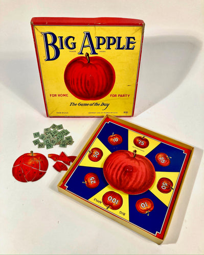 1938 Vintage BIG APPLE Children's BOARD GAME, Rosebud Art Company