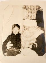 Load image into Gallery viewer, Christmas 1952: MY VISIT TO SANTA, Billy's Picture with Santa || The Emporium Auditorium