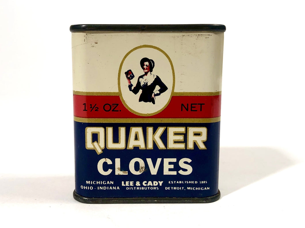 QUAKER CLOVES Original Tin Package || Lee and Cady Distributors
