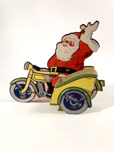 Load image into Gallery viewer, CHRISTMAS Die-cut Stand-up SANTA and Sleigh Advertising Display, Holder
