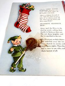 1951 SANTA CLAUS IN TOYLAND Mechanical Children's Holiday Book