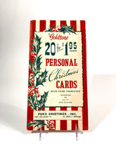 "Load image into Gallery viewer, ""Goldtone"" Personal CHRISTMAS CARDS Sample Book, Six Designs, Foil 