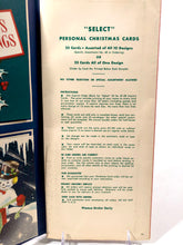 Load image into Gallery viewer, 1950's Select Personal CHRISTMAS CARDS Sample Book, Ten Designs || Puro Greetings, Inc.
