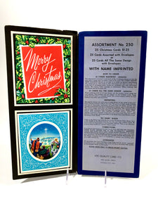 1950's Personal CHRISTMAS CARDS Sample Book, Ten Designs || Hye-Quality Card Co.