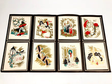 "Load image into Gallery viewer, 1950's ""Goldtone"" Personal CHRISTMAS CARDS Sample Book, Six Designs, Foil 