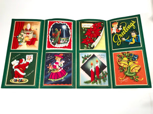 1950's The 1952 Vogue Personal CHRISTMAS CARDS Sample Book, Eight Designs, Flocked || Hye-Quality Card Co.
