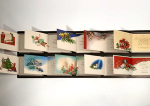 1950's Personalized CHRISTMAS CARDS Sample Book, Ten Designs || Hye-Quality Card Co.
