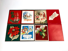 Load image into Gallery viewer, 1950's Personalized CHRISTMAS CARDS Sample Book, Ten Designs, Foil, Embossing || Hye-Quality Card Co.