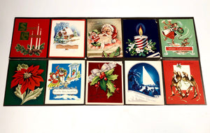 1950's Personalized CHRISTMAS CARDS Sample Book, Ten Designs, Foil, Embossing || Hye-Quality Card Co.