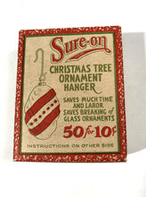 Load image into Gallery viewer, Sure-On Christmas Tree ORNAMENT HANGERS || Full Antique Box with Hangers