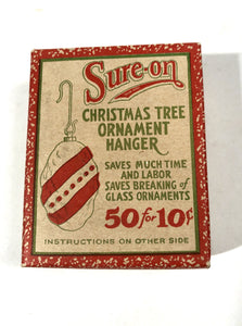 Sure-On Christmas Tree ORNAMENT HANGERS || Full Antique Box with Hangers