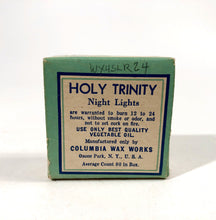 Load image into Gallery viewer, 1941 HOLY TRINITY Miniature Candle Box and Original Product, Holiday, Manger, Christmas