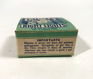 1941 HOLY TRINITY Miniature Candle Box and Original Product, Holiday, Manger, Christmas