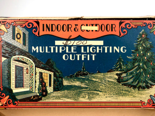 1930 Indoor & Outdoor Multiple Lighting Outfit CHRISTMAS LIGHT Box, Empty