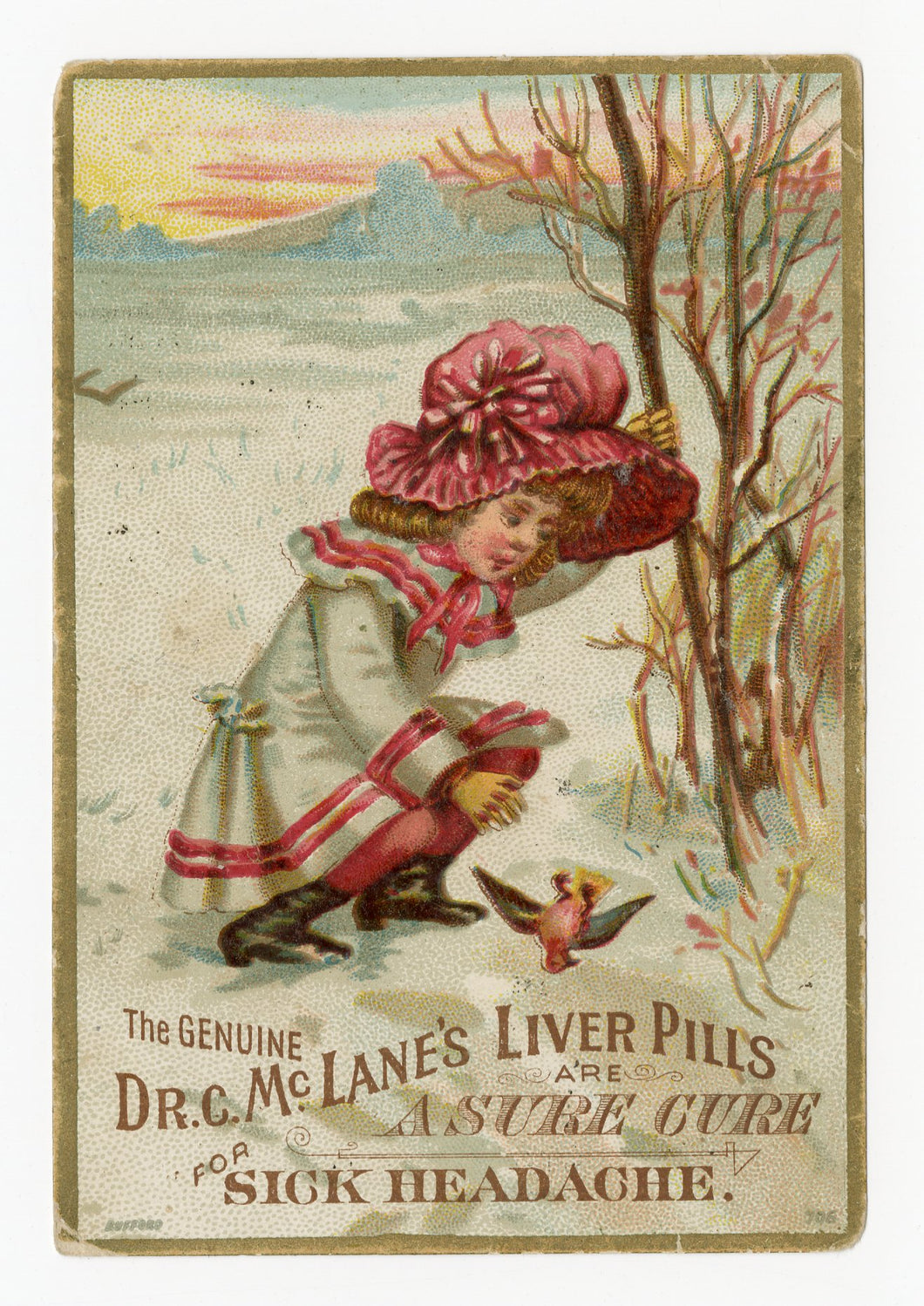 Victorian Dr. McLane's Liver Pills, Quack Medicine Trade Card || Pharmacy