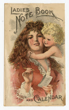 Load image into Gallery viewer, Victorian Dr. Pierce's Salve Ladies Note Book & Calendar, Promotional Book
