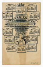 Load image into Gallery viewer, Victorian Hoyt's German Cologne Ladies Perfumed Calendar 1895