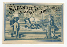 Load image into Gallery viewer, Victorian Sapanule Cures, Quack Medicine Trade Card || Hammock