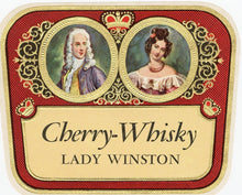 Load image into Gallery viewer, Antique, Unused LADY WINSTON CHERRY WHISKY Liquor Label, Alcohol, Vintage
