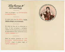 Load image into Gallery viewer, Vintage 1920's Outstanding King George IV Old SCOTCH WHISKEY Booklet