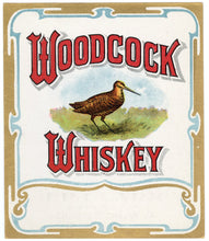 Load image into Gallery viewer, Old Vintage, WOODCOCK WHISKEY Label, Alcohol