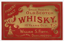 Load image into Gallery viewer, Vintage, Special Reserve Old SCOTCH WHISKEY Label, MALT, Alcohol, Gold, Red
