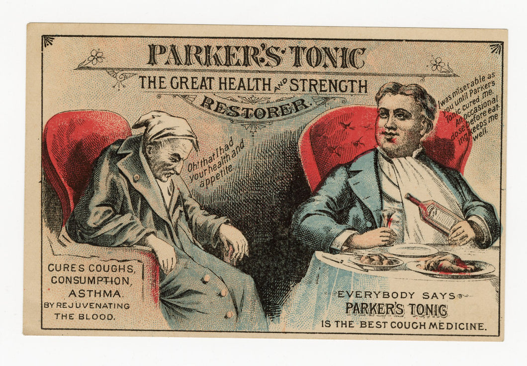 Victorian Parker's Tonic, Quack Medicine Trade Card || Pharmacy