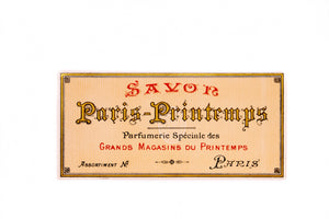 Vintage Savon PARIS PRINTEMPS Antique Label - TheBoxSF