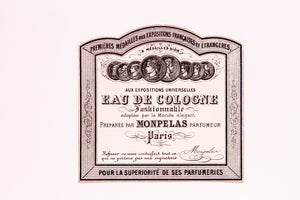 Vintage EAU DE COLOGNE, 8 GOLD MEDALS, MONPELAS Antique Perfume Label, Paris - TheBoxSF