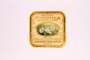 Vintage Poudre, NYMPHEA, LORENZY PALANCA, Antique Label, Paris - TheBoxSF