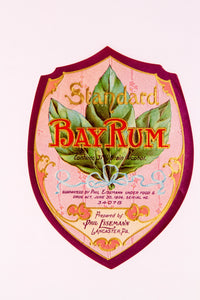 Vintage BAY RUM, Prepared by Phil Eisemann, Lancaster, PA - TheBoxSF