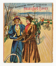 Load image into Gallery viewer, Victorian Field's Cafe Cloves, Gum, Candy Trade Card || Tweed Ride