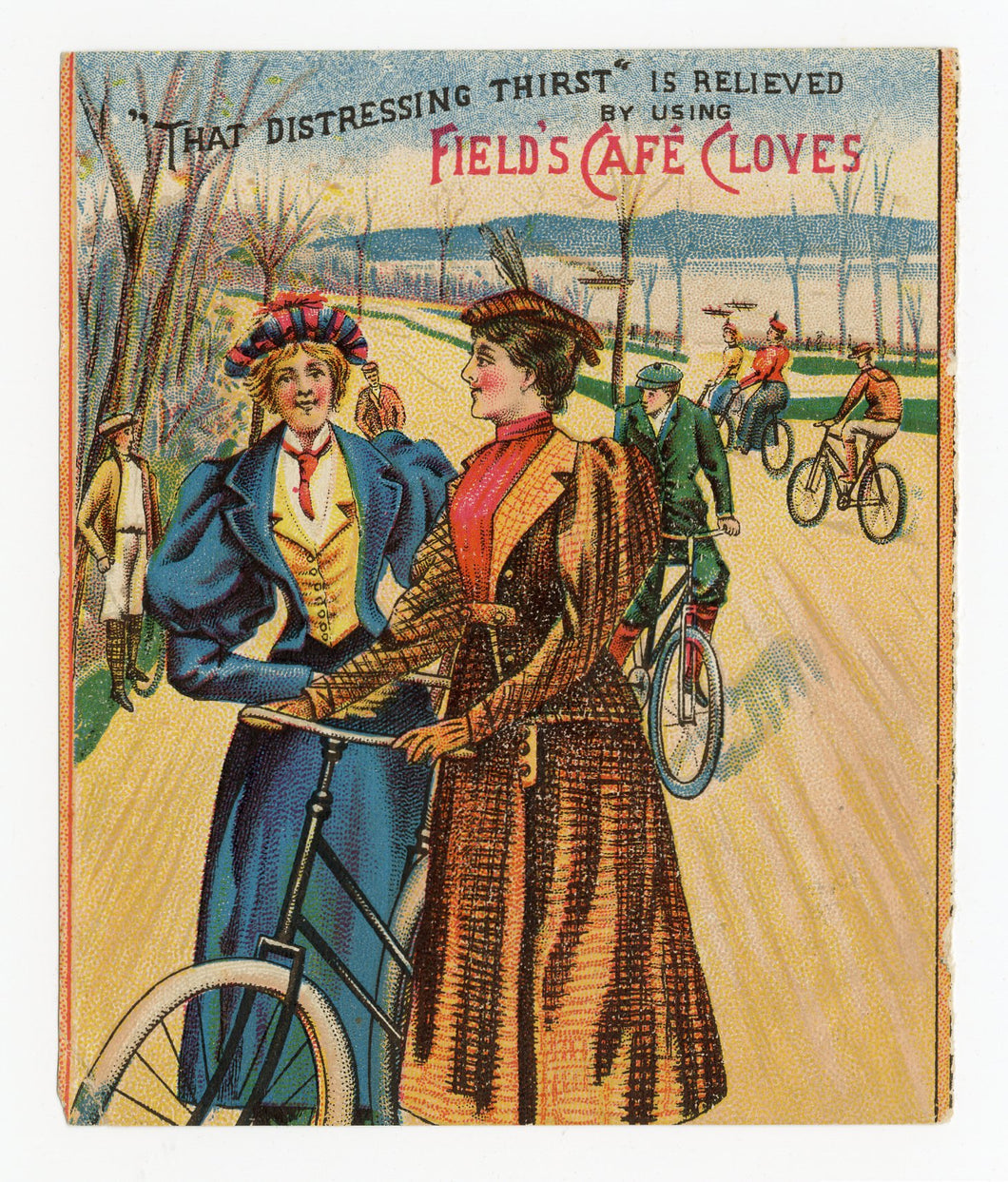 Victorian Field's Cafe Cloves, Gum, Candy Trade Card || Tweed Ride
