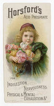 Load image into Gallery viewer, Victorian Horsford's Acid Phosphate, Quack Medicine Trade Card || Small Child