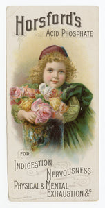 Victorian Horsford's Acid Phosphate, Quack Medicine Trade Card || Small Child