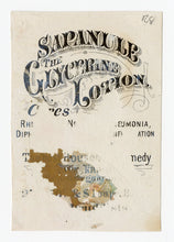 Load image into Gallery viewer, Victorian Sapanule Lotion, Quack Medicine Trade Card || Lovers