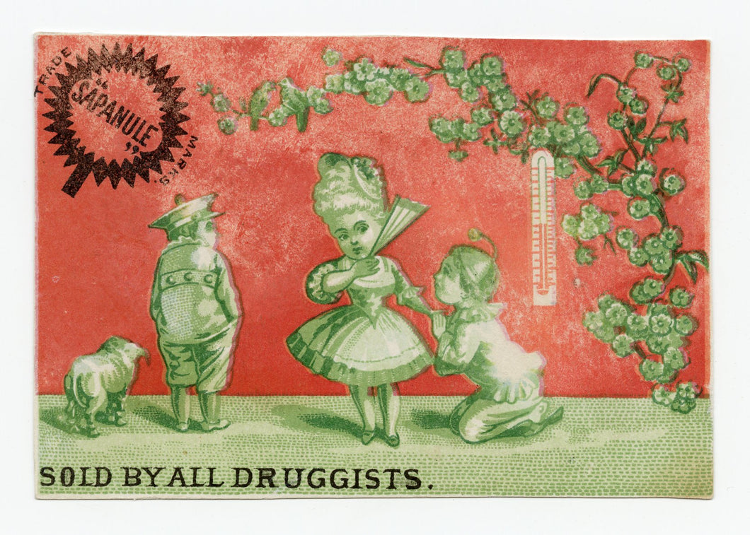 Victorian Sapanule Lotion, Quack Medicine Trade Card || Lovers