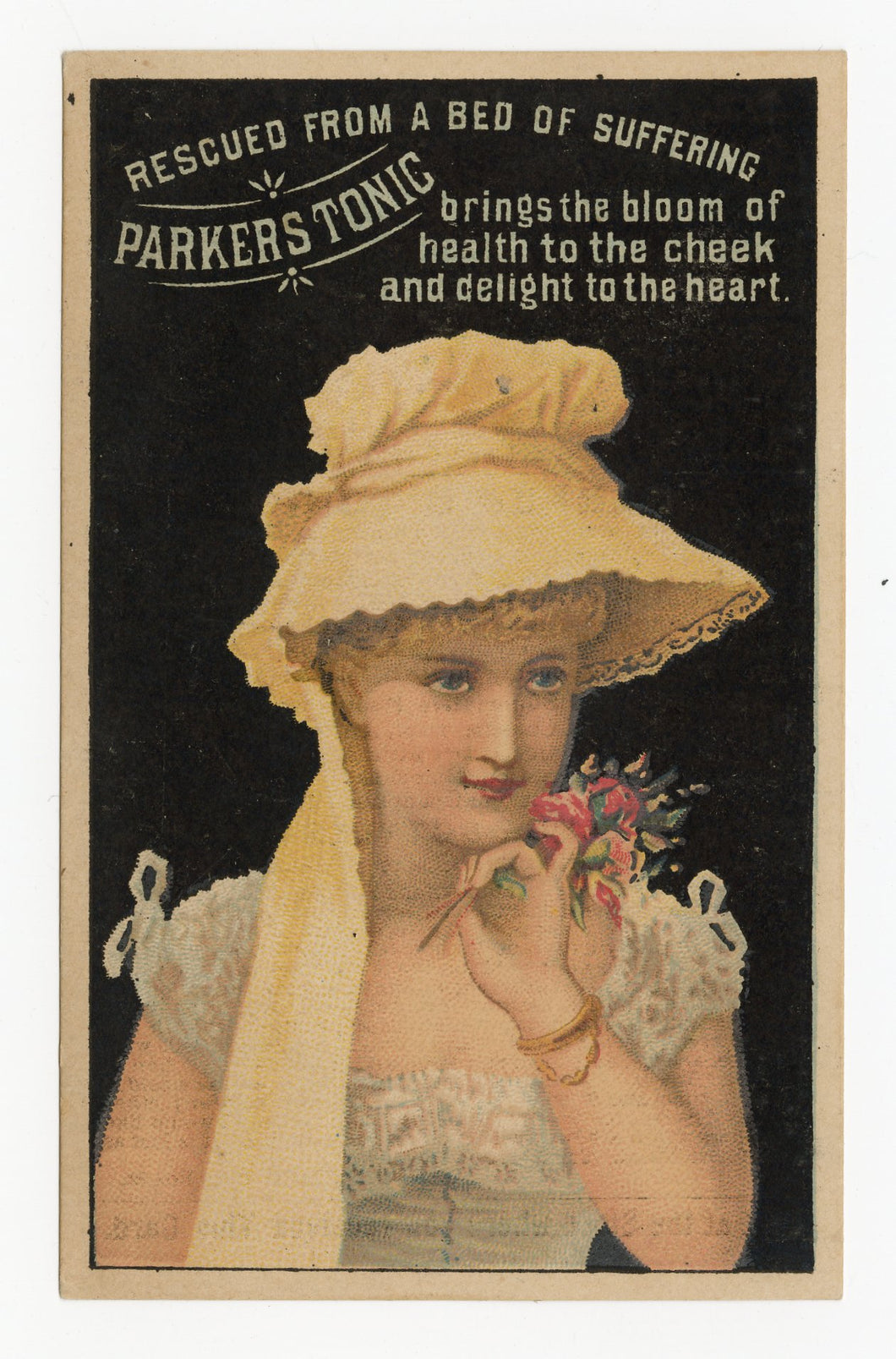 Victorian Parker's Tonic, Quack Medicine Trade Card || Beautiful Woman
