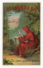 Load image into Gallery viewer, Victorian St. Jacobs Oil, Quack Medicine Trade Card || Pharmacy