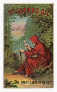 Victorian St. Jacobs Oil, Quack Medicine Trade Card || Pharmacy