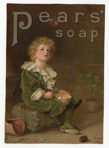 Victorian Pears' Soap Trade Card || Child Blowing Bubbles