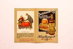 Old Vintage, Outstanding King George IV Old SCOTCH WHISKEY Label - TheBoxSF