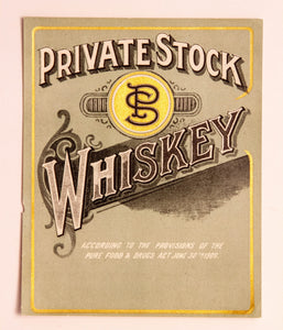 Old Vintage, Private Stock SP WHISKEY Label, Alcohol - TheBoxSF