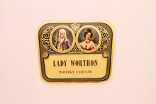 Load image into Gallery viewer, RARE Old LADY WORTHON WHISKY Liquor Label, Alcohol, Vintage - TheBoxSF