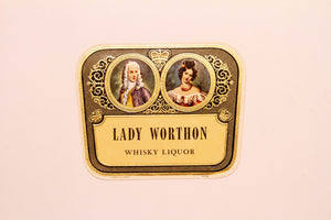 RARE Old LADY WORTHON WHISKY Liquor Label, Alcohol, Vintage - TheBoxSF