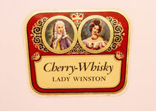 Load image into Gallery viewer, RARE Old LADY WINSTON CHERRY WHISKY Liquor Label, Alcohol, Vintage - TheBoxSF